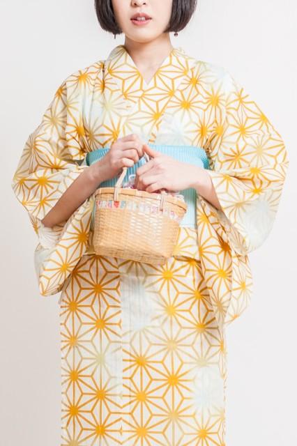 かごバッグ 柄入り巾着付き レディース KG01 314-501 【 木製 籠バッグ カゴバッグ かご巾着 手提げ 手さげ 鞄 かばん カバン 横型 小さ
