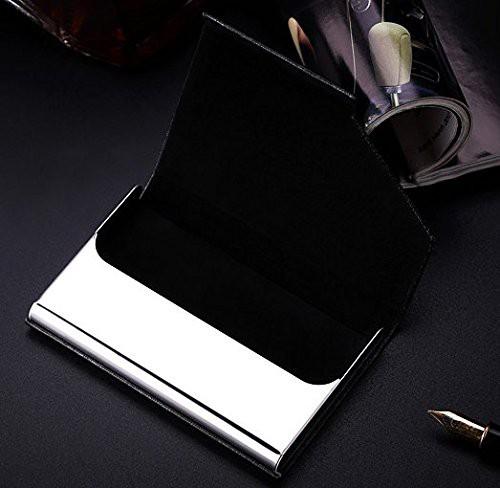 名刺入れ メンズ 革 レザー アルミ ステンレス カードケース レディース 名刺ケース 黒 ブラック プレゼント ギフト シンプル 無地