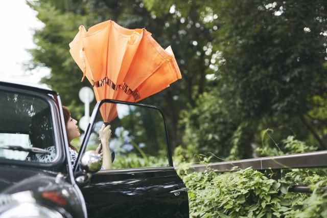 逆さに開く二重傘 circus × moz かさ 長傘 雨傘 梅雨 2重傘 おしゃれ