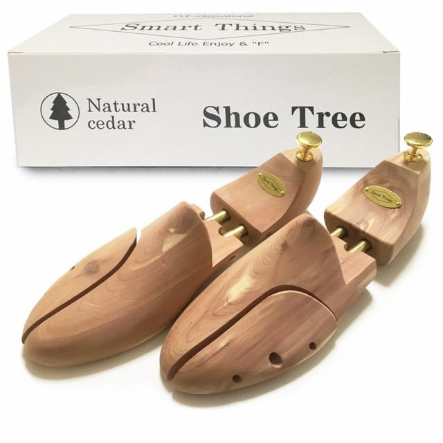 シューキーパー 北米産レッドシダー スタンダードモデル 天然木製 シューツリー 除湿 抗菌 消臭 防カビ 型崩れ防止 革靴用 メンズ