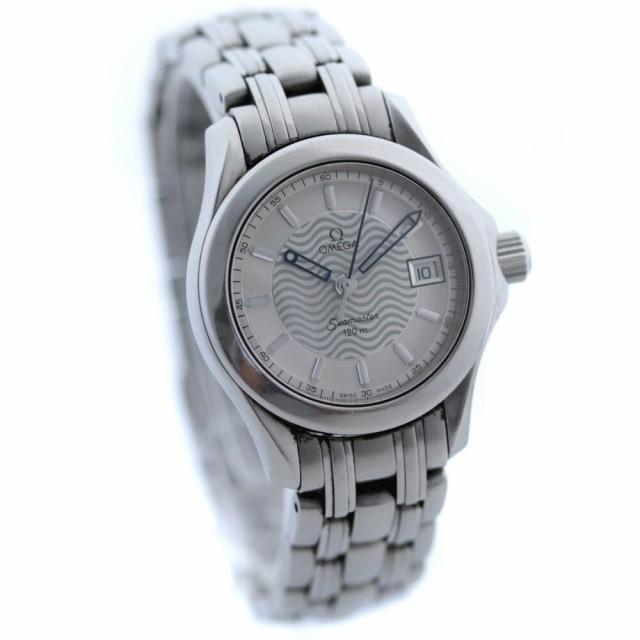 buy online 8bbd0 ac414 【中古】 オメガ シーマスター 120m 腕時計 レディース クオーツ シルバー 2581.31 au Wowma!(ワウマ)