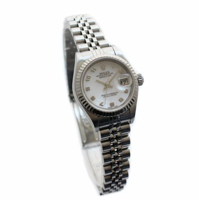 big sale 8efdf 1e5be 【中古】 ROLEX ロレックス デイトジャスト 腕時計 オートマ ステンレス K18ホワイトゴールド ピンクシェルダイアル シルバー  79174N|au Wowma!(ワウマ)