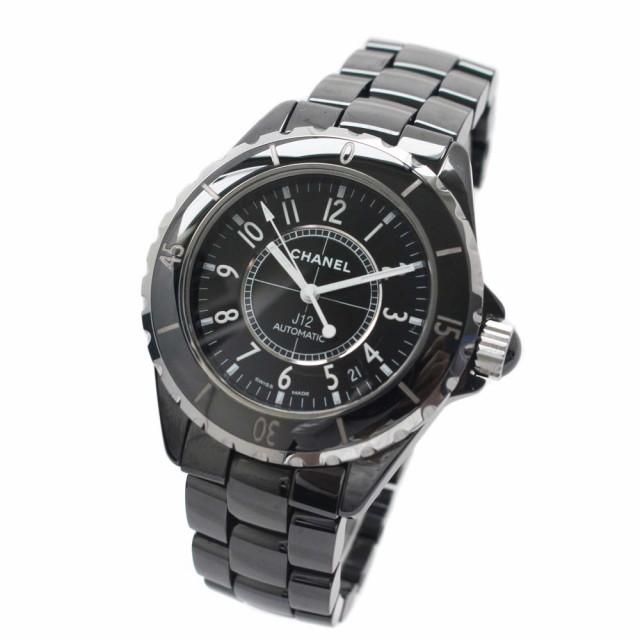 new product c214b d1658 【中古】CHANEL シャネル J12 腕時計 メンズ 自動巻き ブラック文字盤 ブラック