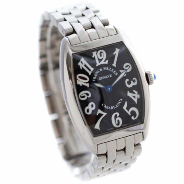 timeless design 2bb13 69d3b 【中古】FRANCK MULLER フランクミュラー カサブランカ 腕時計 レディース クオーツ ブラック文字盤 シルバー 1752QZ
