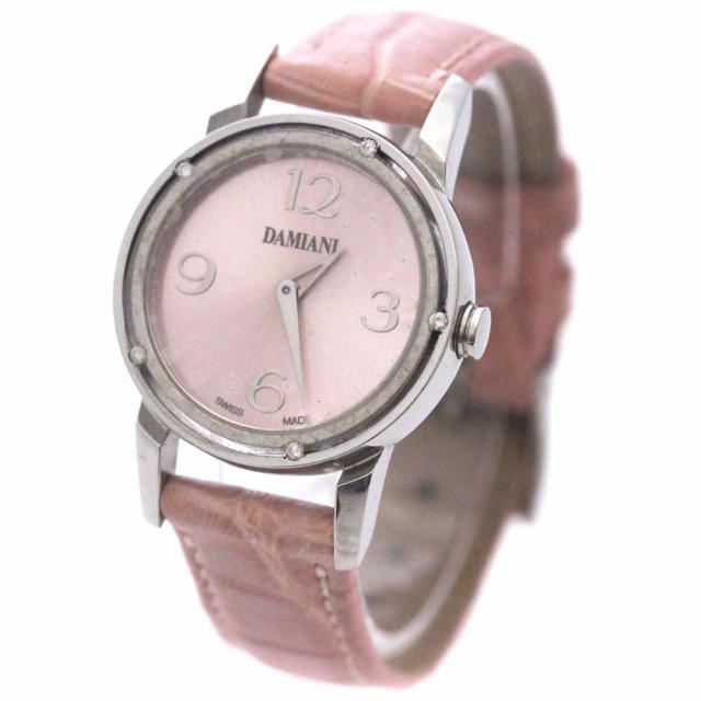 【2018最新作】 【】Damiani ダミアーニ D-SIDE 5Pダイヤ 腕時計 レディース クオーツ ピンク文字盤 ピンク シルバー DS006, スレバーアンダーウェア 51d1679e