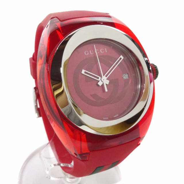 大きな取引 グッチ 腕時計 メンズ クオーツ レッド文字盤 レッド 137.1, 勝連町 f88805ba