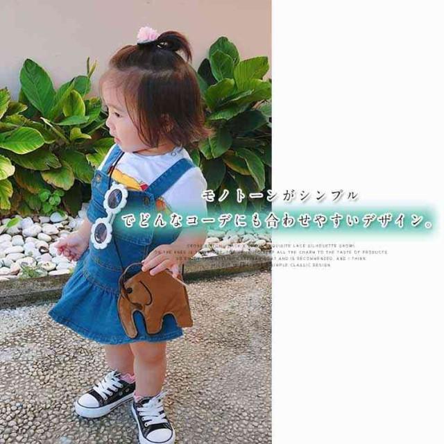 fb79980396b13 子供用バッグ ショルダーバッグ 女の子 象 動物 エレファント キッズ カバン 鞄 かばん ショルダー 斜めがけ