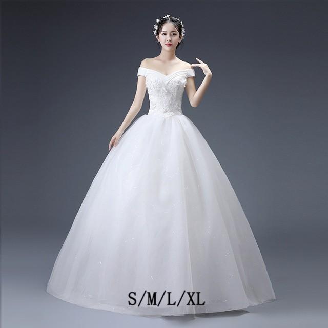 163406fc77e00 お揃いドレス きれいめ ロング丈 ボートネック ホワイト レース 披露宴 肩出し 結婚式