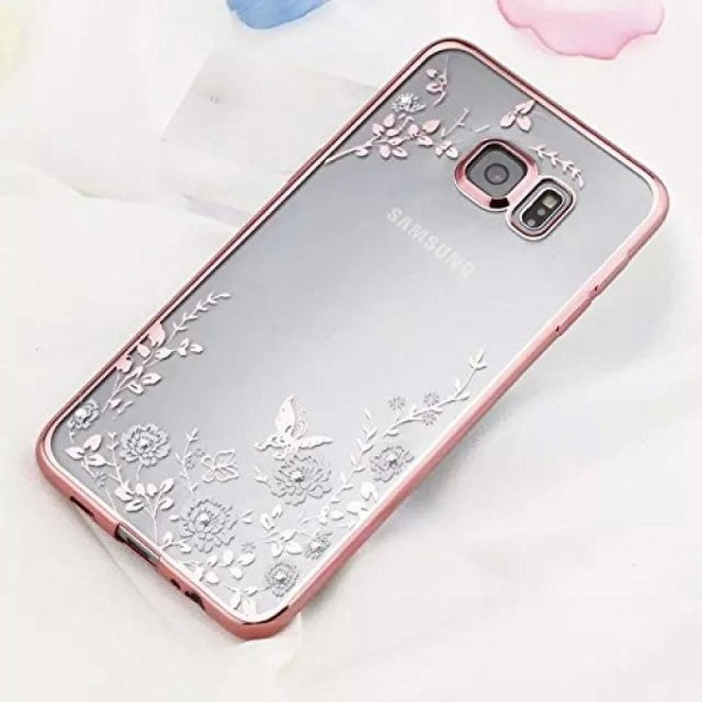 スマートホンケース・カバ‐ Inspirationc [Secret Garden] TPU Plating Clear Shiny Cover Series for Samsung Galaxy S7/S7 Edge--Swa