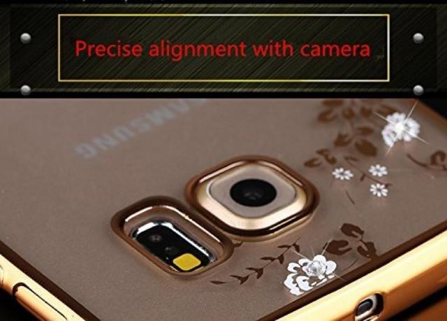 スマートホンケース・カバ‐ Inspirationc [Secret Garden] TPU Plating Clear Shiny Cover Series for Samsung Galaxy S7/S7 Edge--Swa