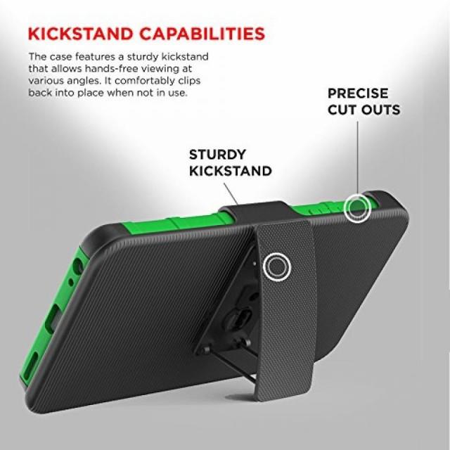 スマートホンケース・カバ‐ Zizo Armor Cover for LG V20 w/ Kickstand & Holster Clip Heavy Duty Strong Protective Case Slim Shock