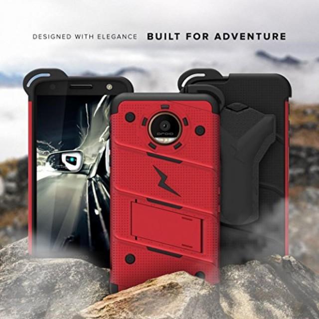 スマートホンケース・カバ‐ Motorola Moto Z Case, Zizo [Bolt Series] with FREE [Moto Z Screen Protector] Kickstand [Military Gra