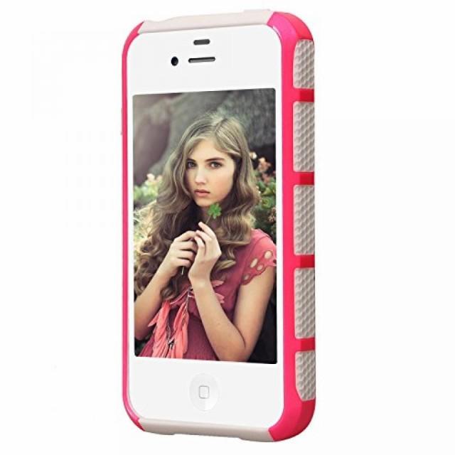 スマートホンケース・カバ‐ iPhone 4S Case, iPhone 4 Case, AUMI Dual Layer Hybrid Slim Armor Defender Case for Apple iPhone 4/4S