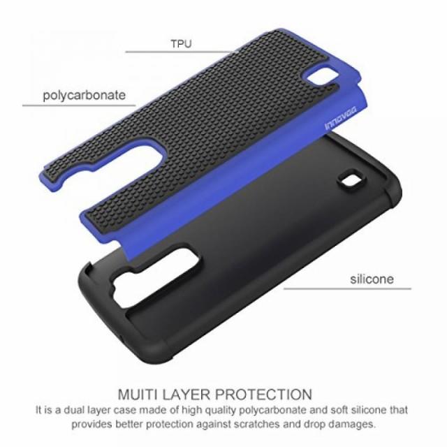 スマートホンケース・カバ‐ LG K10 / K420N Case, INNOVAA Smart Grid Defender Armor Case W/ Free Screen Protector & Touch Screen