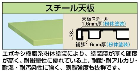 【10%OFF】 【き】 重量用天板 W-1580STC, HANEYA Design -ハネヤデザイン- 7e0aa31e