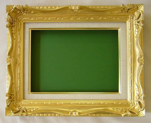 油絵額縁 油彩額縁 アートフレーム 木製 7802 サイズF3号