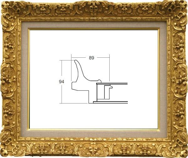 油絵額縁 油彩額縁 アートフレーム 木製 アクリル付 7821 サイズF4号