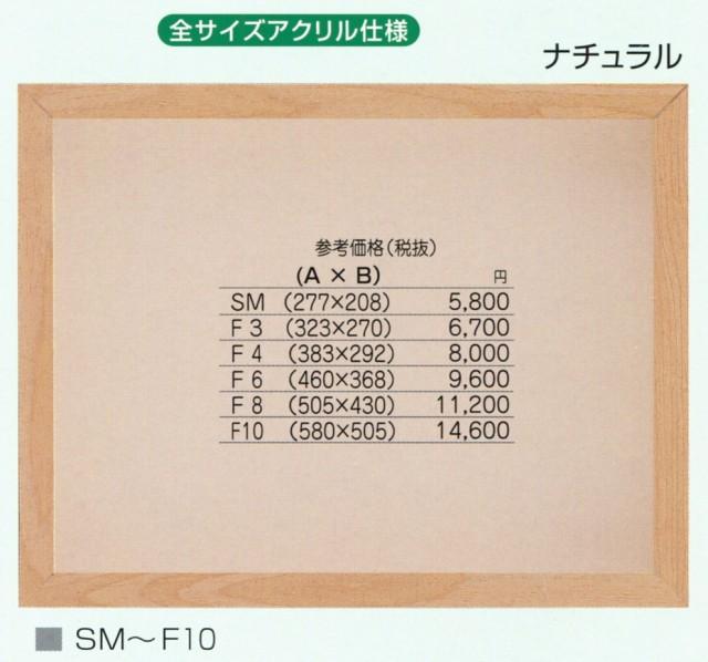 油絵額縁 油彩額縁 アートフレーム アクリル付 9309 BOX額縁 サイズF6号