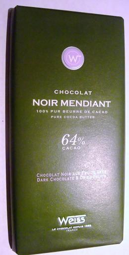 タブレット マンディアンチョコレート(カカオ64%) フランス産