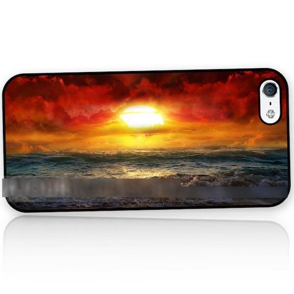 【】 スマホケース 太陽 海 空 自然 アートケース 保護フィルム付 iPhone Galaxy iPod iPad