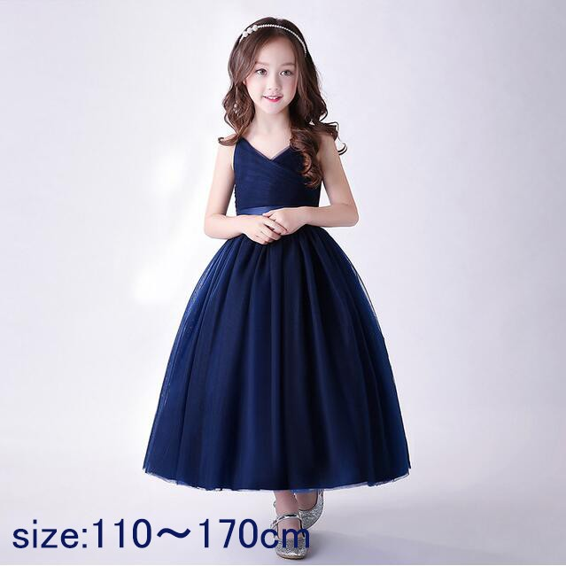 f91102b576de3 子供ドレス 女の子 ドレス ピアノ発表会 プリント 二次会 花嫁 ジュニア 結婚式 キッズロングドレス