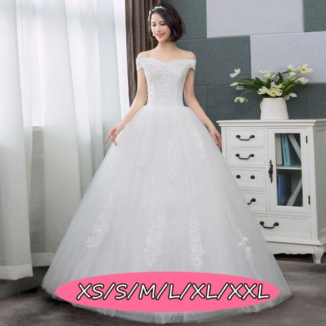 57891cb3554fb ウェディングドレス 結婚式ワンピース きれいめ オフショルダー 花嫁 ドレス 高級刺繍 大人エレガント 優雅