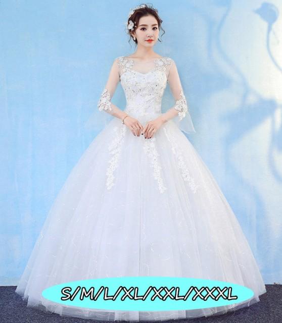 6f3aa5323214f 結婚式ワンピース お嫁さん 豪華な ウェディングドレス 花嫁 ドレス エンパイア 大人エレガント 優雅 姫