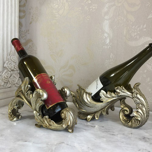 【ワインホルダー】ボトルホルダー  アンティークワインホルダーA/B  アンティーク調シャンパンカラー仕上げ