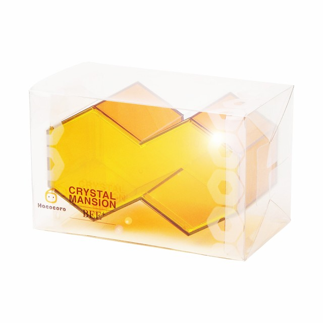 【送料全国一律】クリスタルの質感と美しい光沢が特徴の高品位プラスチックケース『CRYSTAL MANSION BEE+ フタ付ハニカムモデル』