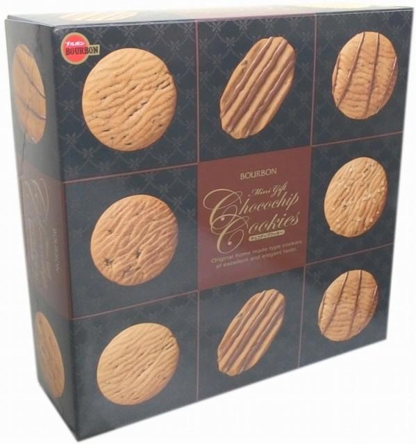 バラエティー豊かなお手軽ギフトブルボン■ミニギフトチョコチップクッキー缶 60枚
