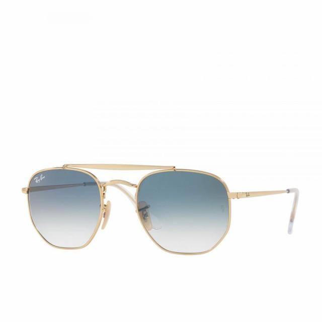 【高価値】 レイバン Ray-Ban ユニセックス メガネ・サングラス Marshal Sunglasses Gold/Clear Gradient Blue, オカドン a7b712e1