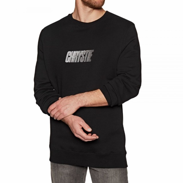 【期間限定特価】 クリスティ ニューヨーク Chrystie メンズ ニット ニューヨーク・セーター Chrystie トップス Race Race Logo Crewneck Sweater Black, 中古PCとハイブリッドPCのOA-PLAZA:9b66494d --- standleitung-vdsl-feste-ip.de