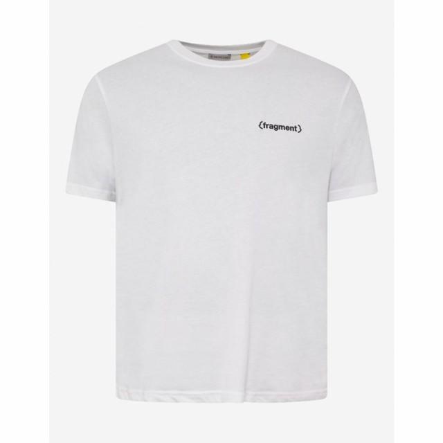 激安ブランド モンクレール White 7 Moncler Fragment Hiroshi Fujiwara Fujiwara メンズ Hiroshi Tシャツ トップス White News Logo Print T-Shirt White, 【楽天最安値に挑戦】:ab2f258d --- buergerverein-machern-mitte.de