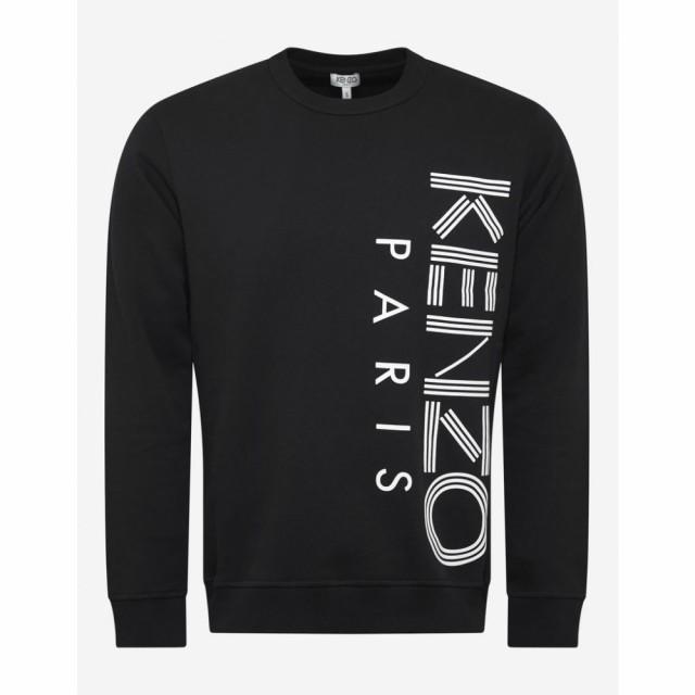 高質で安価 ケンゾー Kenzo メンズ スウェット・トレーナー トップス Black Logo Sweatshirt Black, ゲイホクチョウ 3df2adf8