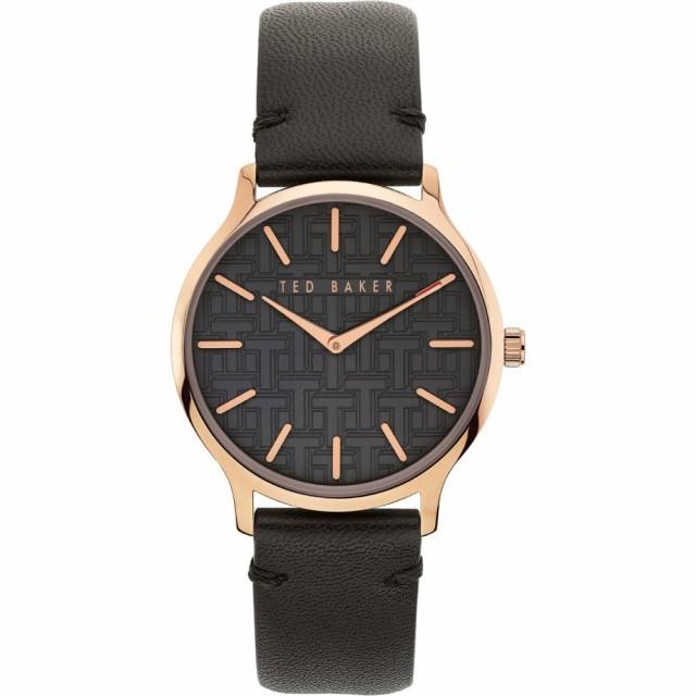 特別価格 テッドベーカー TED BAKER LONDON レディース 腕時計 Poppiey Leather Strap Watch. 38mm Black/Rose Gold, アットOT&Emotional aedb9b54