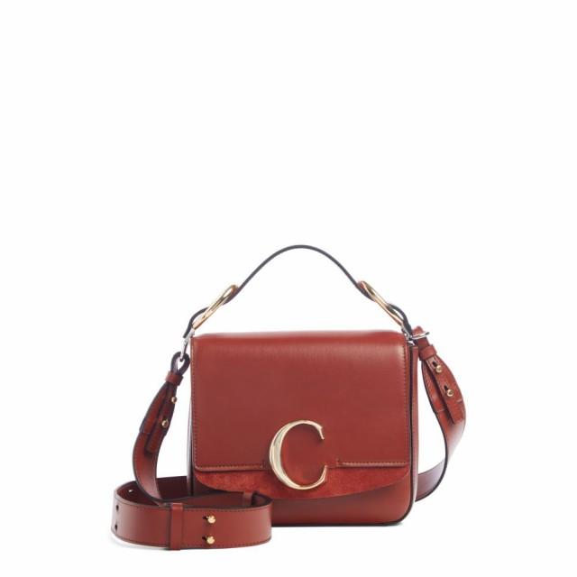 ファッションデザイナー クロエ CHLOE レディース バッグ Small C Convertible Leather Bag Sepia Brown, シルバーショップ oseney e2dc54fe