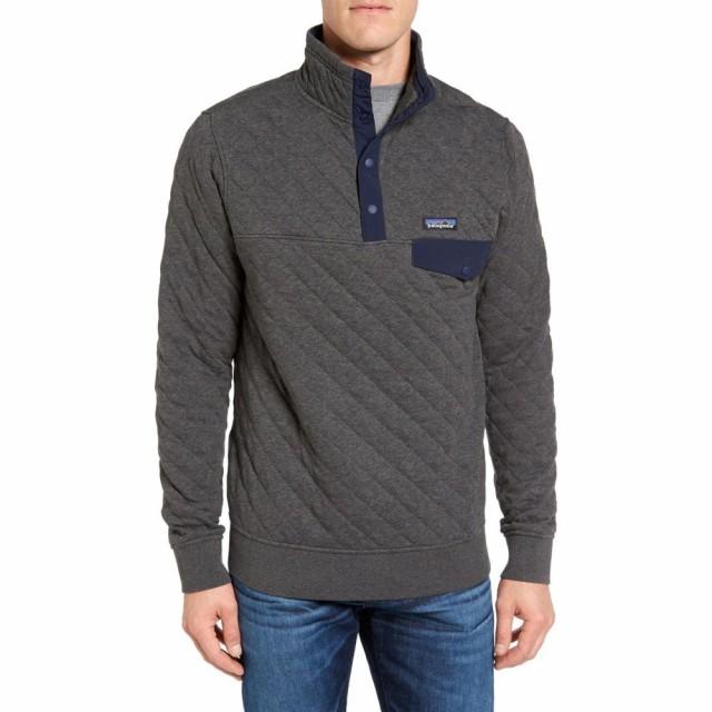 新品登場 パタゴニア PATAGONIA メンズ フリース トップス Snap-T Quilted Fleece Pullover Forge Grey, ソウマシ f2b78d87