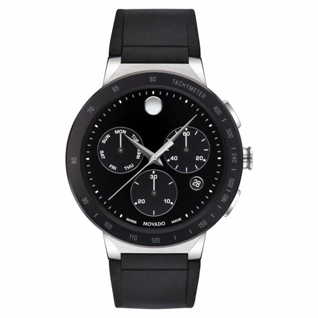 [定休日以外毎日出荷中] モバード MOVADO メンズ 腕時計 クロノグラフ Sapphire Chronograph Rubber Strap Watch. 43mm Black, 藍星 ドッグフード キャットフード 90f5fbd6
