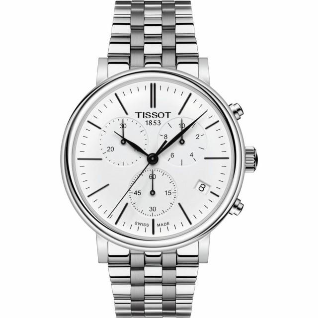 独特な店 ティソ TISSOT メンズ 腕時計 クロノグラフ Carson Premium Chronograph Bracelet Watch. 41mm Silver/White/Silver, 欧州車パーツの宝箱 SOL 3e965dc3