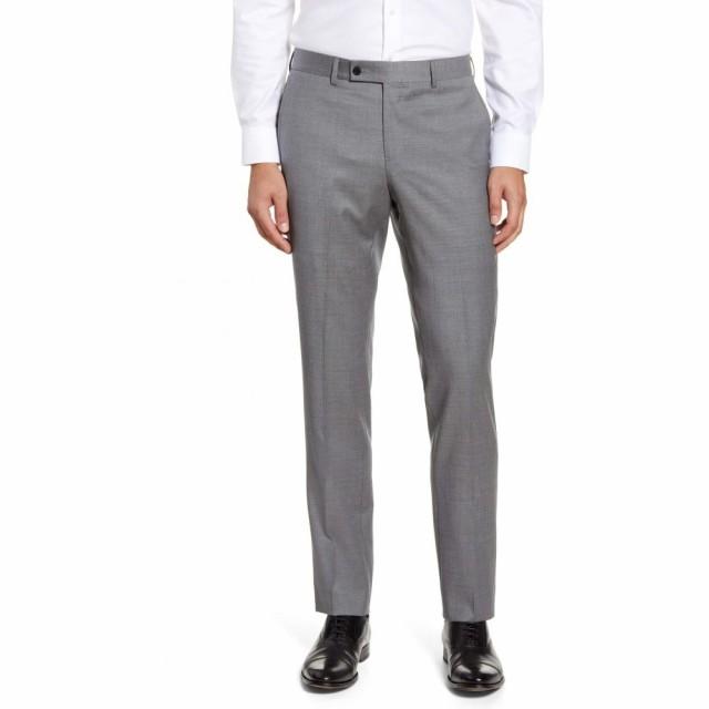 【良好品】 ノードストローム NORDSTROM MENS SHOP メンズ スラックス ボトムス・パンツ Trim Fit Wool Blend Dress Pants Grey Shade, ムーンウインド 263bd082