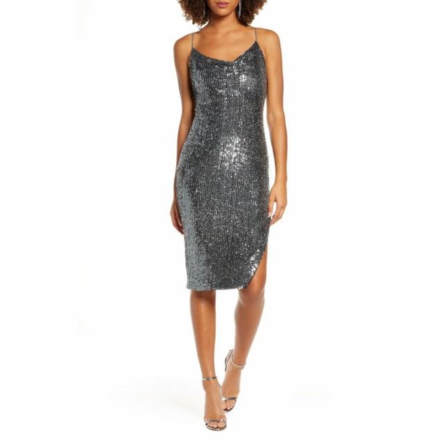 激安正規  レディース Slip Dress Sequin バルドー Gunmetal スリップドレス ワンピース BARDOT ワンピース・ドレス-ワンピース