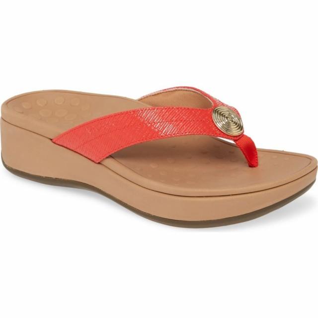 専門店では ビーチサンダル Flip バイオニック Pilar シューズ・靴 Platform VIONIC Flop レディース Cherry-靴・シューズ