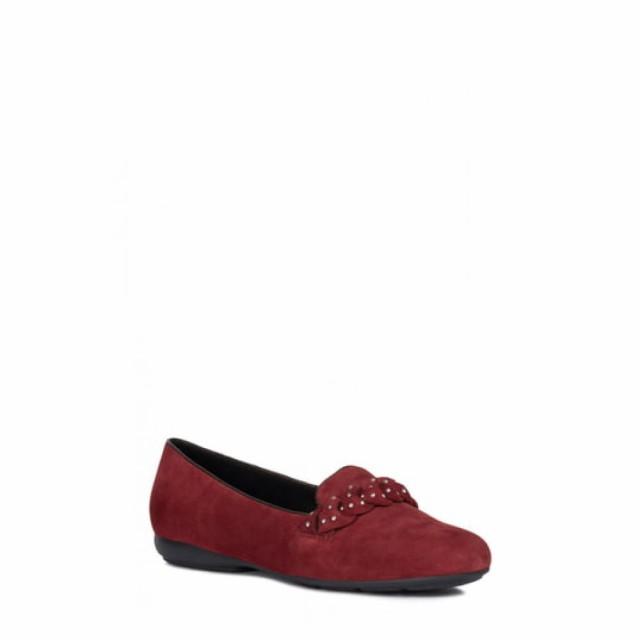 贅沢屋の ジェオックス GEOX レディース ローファー・オックスフォード シューズ・靴 Annytah Studded Loafer Bordeaux Suede, ハマナグン 9fbd16b6