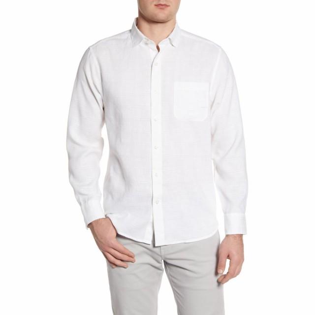 限定版 トミー バハマ TOMMY BAHAMA メンズ シャツ トップス Costa Capri Classic Fit Linen Blend Button-Up Shirt White, DIY FACTORY ONLINE SHOP eebed091