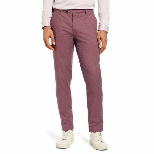 人気カラーの テッドベーカー TED BAKER LONDON メンズ Fit スラックス ボトムス・パンツ Classic Penguin LONDON Slim Fit Classic Dress Pants Dark Red, PUREHEART自然館:7a7858d7 --- kleinundhoessler.de