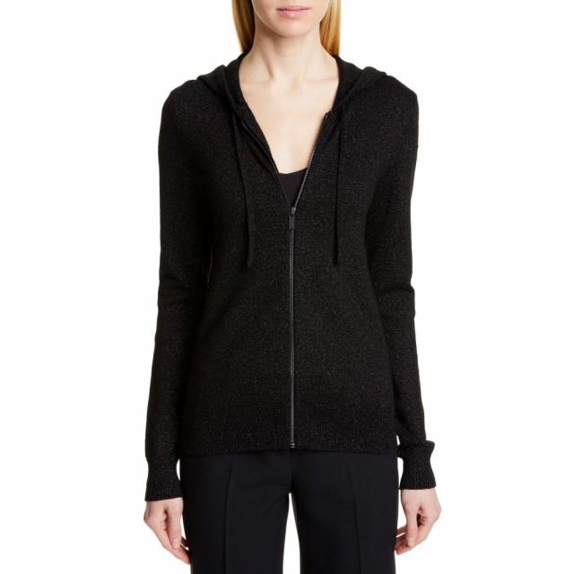 2019年激安 マイケル Sweater コース MICHAEL KORS KORS レディース パーカー MICHAEL トップス Metallic Hooded Sweater Black/Black, 建材OFF:5d2bda47 --- kzdic.de