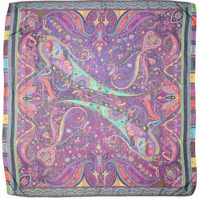 ファッションデザイナー エトロ ETRO レディース マフラー Wool・スカーフ・ストール Scialle Bombay ETRO Paisley Silk Wool and Silk Scarf Purple, 木の香 日光那須:c115dc10 --- ai-dueren.de