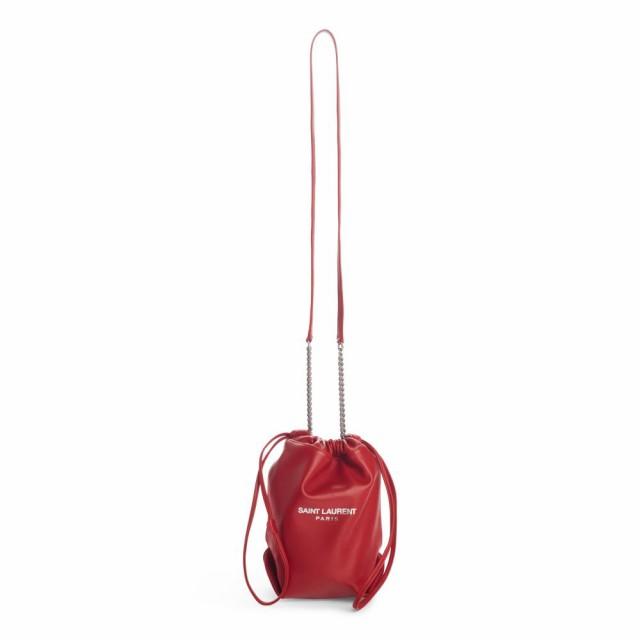 【驚きの価格が実現!】 イヴ サンローラン SAINT LAURENT レディース バッグ Small Teddy Leather Bucket Bag Rouge Eros, サナダマチ 23c83c02