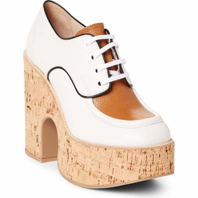 新品同様 MIU ミュウミュウ レディース Derby ローファー・オックスフォード Platform White ダービーシューズ MIU シューズ・靴-靴・シューズ