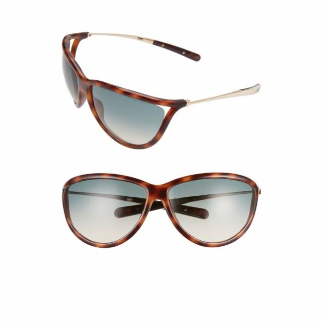 贅沢品 トム レディース フォード TOM FORD レディース メガネ Oversize・サングラス Sunglasses Tammy 70mm Oversize Gradient Sunglasses Havana/Gold/Gradient Blue, 灯台美ハーブ園:17199b63 --- eu-az124.de